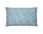 """Blue Floral Betsy Liberty of London Print Throw Pillow Cover 12""""x20"""" - More Sizes Avalaible"""