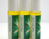 Aromatherapy Roll-on Perfume: Meditate Fragrance - All Natural and Organic