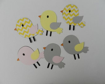 Bird die cuts/Cupcake toppers/Centerpieces