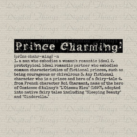 Prince charming definition fairy tale word art typography for Tale definition