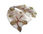 Nuno felted scarf/ beige rose/ spring scarf/  Wool Shawl - Marywool
