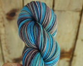 self striping sock yarn BFL and nylon OOAK Hurry Home