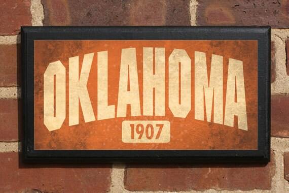 Oklahoma OK Wall Art Sign Plaque Gift Present Home Decor