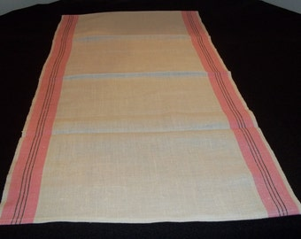 Vintage Unused Linen Kitchen Towels Made by Us from Vintage Toweling-Gorgeous Pink Stripes