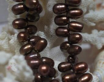 Brown Pearl, Freshwater Pearl Beads, 9x6mm, Teardrop Pearl Beads, Jewelry Making, Bead Supplies