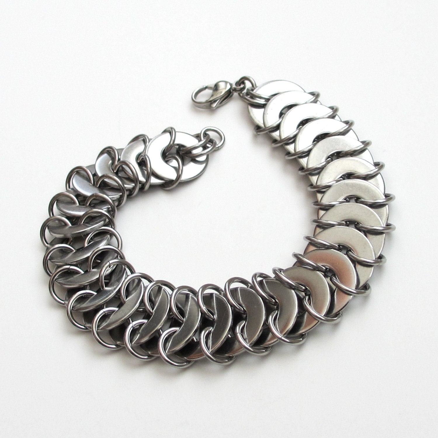 Make A Chain Mail Bracelet: Stainless Steel Chainmail Bracelet Washer Chainmaille