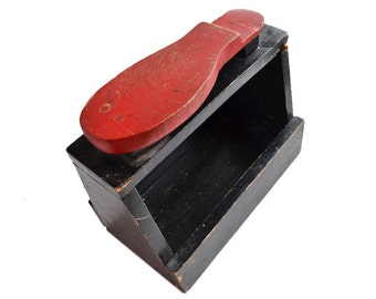 vintage shoe shine box handmade australian primitive folk art  offered by Elizabeth Rosen