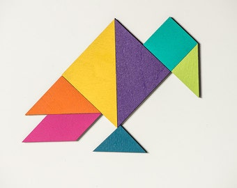 Tangram magnet set color