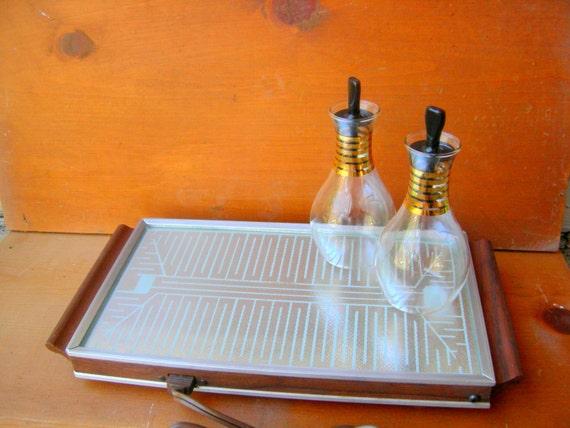 Vintage plate warmer art deco swank