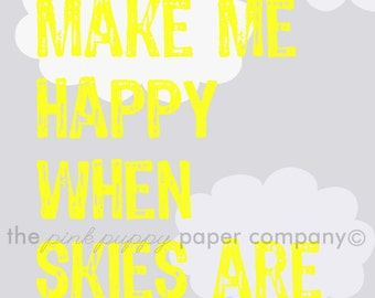Gray Skies (You Are My Sunshine) 5x7 print for nursery, child, or any room