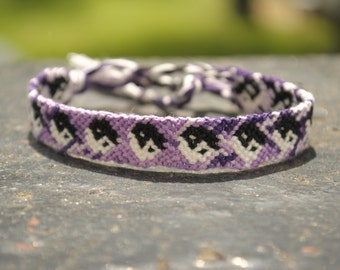 Yin-Yang Purple Friendship Bracelet