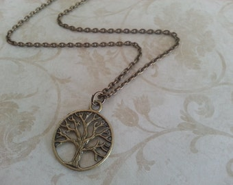 Antique Brass Tree of Life Necklace II