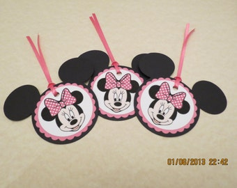 Minnie Mouse Favor Tags & Ties