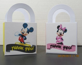 Mickey & Minnie Mouse Thank You Favor Bags