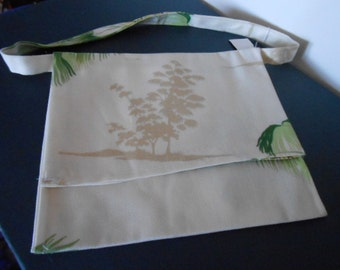 Flap purse,  Over the shoulder purse, large tree print