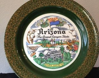 Vintage Homer Laughlin Nautilus Commemorative Plate Arizona The Grand Canyon State