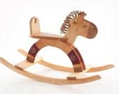 Wooden Rocking Horse, Wood Toy Rocking Horse, Kids Toy