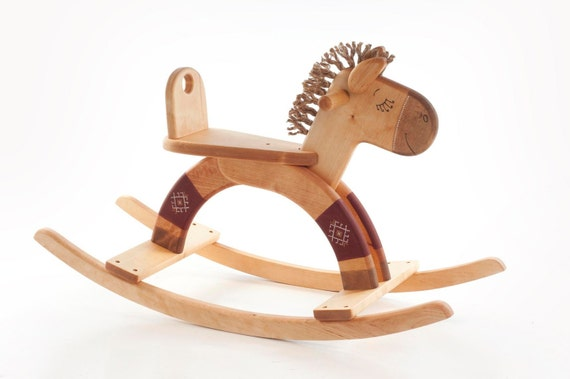 Rocking Horse wooden natural kids toy