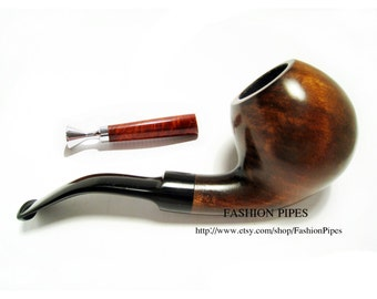 Pear Root Wooden pipe/pipes Tobacco Pipe BALL & Tamper. Wood Pipe, Smoking Pipe Fits 9mm Filters - Limited Edition.