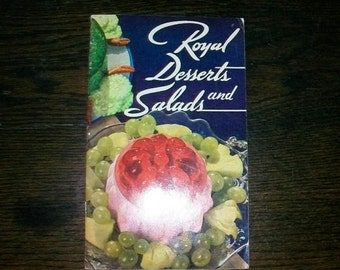 Vintage 1936 Cookbook Royal Desserts and Salads