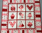 """Handmade """"Be My Sweetie"""" Valentine's Day Quilted Table Topper"""