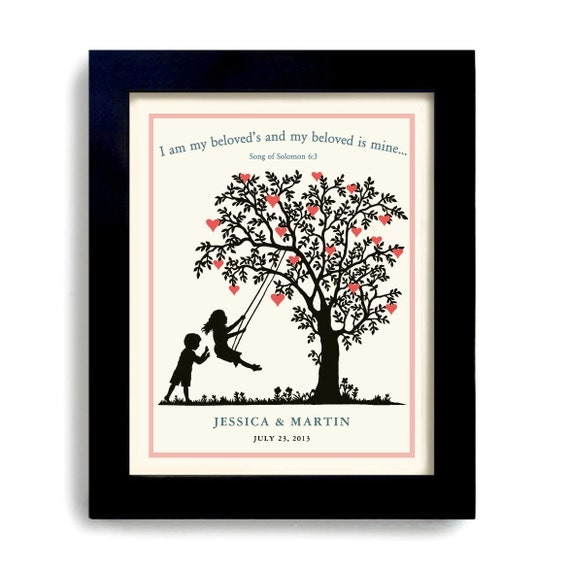 Etsy Wedding Gifts: Wedding Bible Verse Personalized Wedding Gift By DexMex On