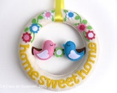 Spring Wreath - Home Sweet Home
