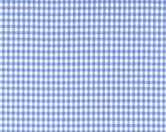 """60"""" Blue Gingham Check Fabric (1/8"""" check) 20 Yards By The Bolt"""