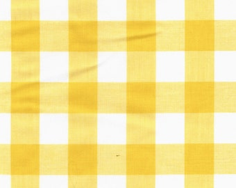 """60"""" Yellow Gingham Check Fabric (1"""" check) 20 Yards By The Bolt"""