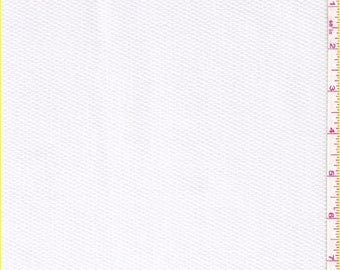 "60"" White Cotton Pique Fabric-15 Yards Wholesale By The Bolt"
