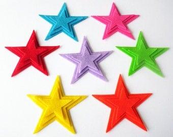 Felt star, set of 21 pieces,