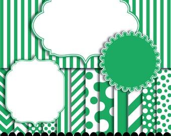 Digital Paper Digital Scrapbooking Digital Papers Scrapbooking Green digital frame clip art emerald : p0176 3s2050 IP