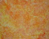Ice Dyed  Fabric, Hand Dyed Cotton Denim, Sunrise (LS) #154