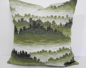 Decorative Pillow Cover, Throw Pillow Cover, Forest, Green, 18 x 18, Cushion Cover