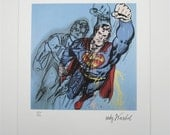 Andy WARHOL SUPERMAN lithograph signed numbered edition 821/5000