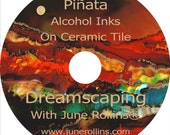 NEW Piñata  Alcohol Inks On Ceramic Tile Instructional DVD   June Rollins