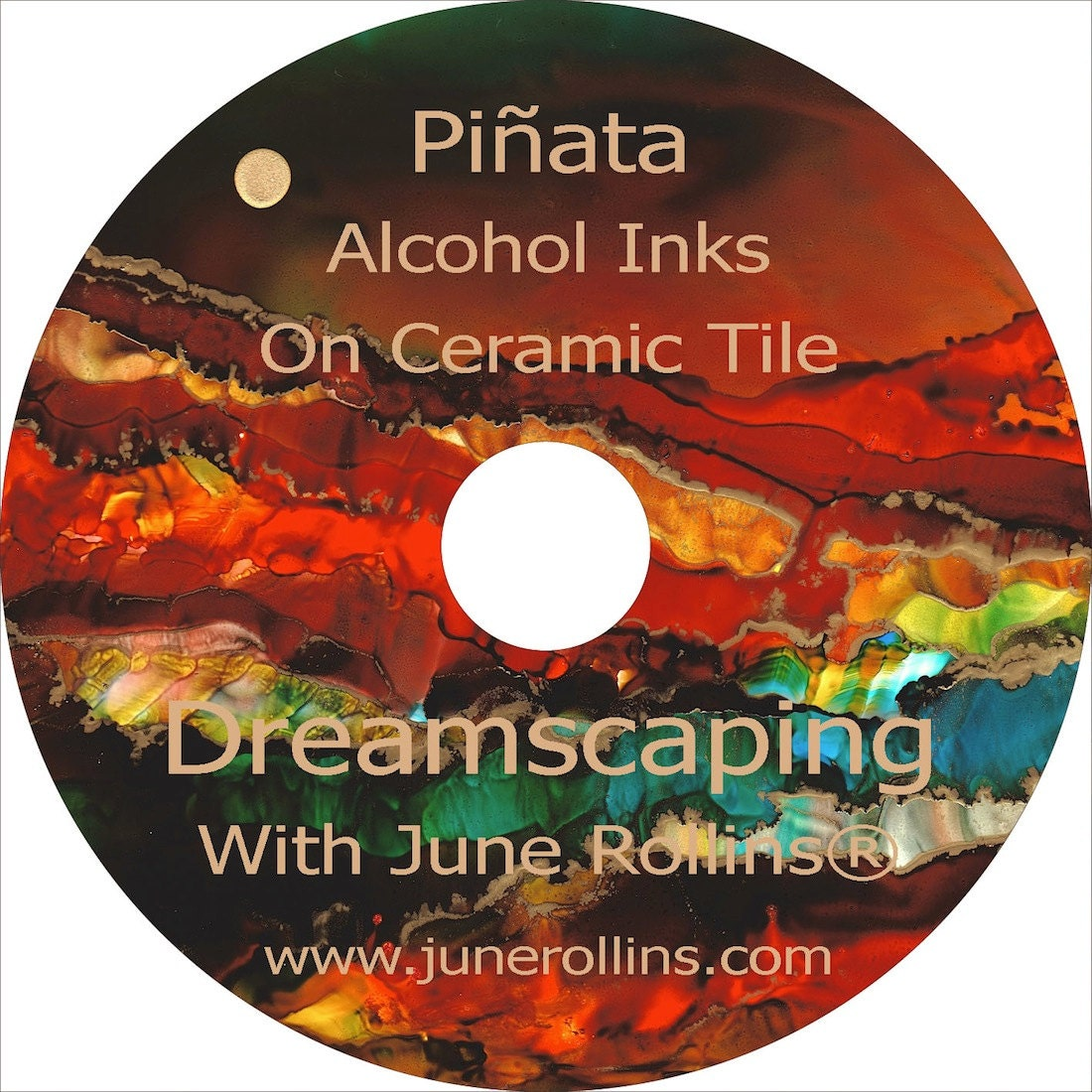 NEW Piñata Alcohol Inks On Ceramic Tile Instructional DVD