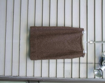 Vintage Woven Wool Pencil Skirt ala 1940s