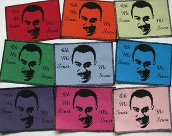 One creepy french guy canvas patch in any color you choose....FREE SHIPPING USA