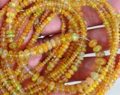 Set of 20 pieces beautiful fire opal, size 2-4.5 mm