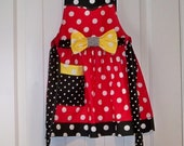 Child size  Legends Minnie Mouse  Apron  Red, black and yellow