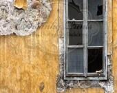 5ft x 7ft Vinyl Photography Backdrop  / Yellow Vintage Window
