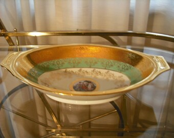 Beautiful Le Mieux China 24K Gold Open Vegetable Dish