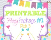 Printable Party Package 1 - PICK THREE