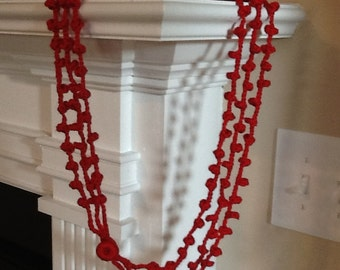 Infinity Three Strand Handmade Crochet Necklace