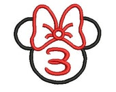 Minnie Mouse Head, Disney Applique, Embroidery Design (171) Instant Download