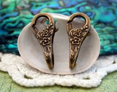 Lobster Claw Clasps, Large Lobster Clasps, Floral Lobster Clasps, Antique Brass Lobster Claw Clasps FIN-026