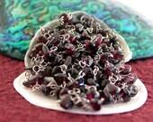 Beaded Chain, Garnet Bead Chain, Semi-Precious Bead Chain, Bead Chain, Rosary Chain, Jewelry Chain CHN-013