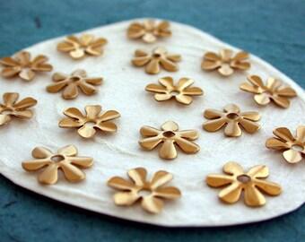 Brass Flower Stampings, Metal Stamped Flowers, Vintage Style Metal Flowers  STA-068