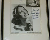 Disney Vintage Voice of Snow White Autograph Picture Adriana Caselotti Signed Framed Art Collectable